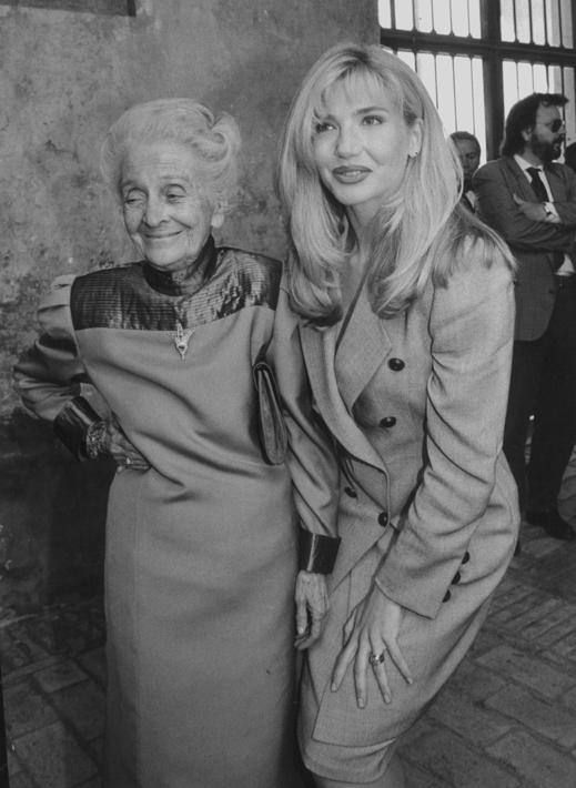 Con Lorella Cuccarini il 22 settembre 1995