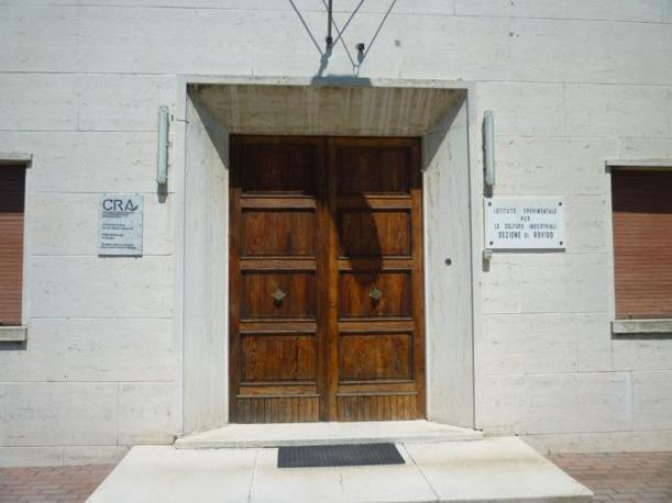 L'ingresso del Centro di ricerca per le colture industriali del CRA di Rovigo (R. Corcella)