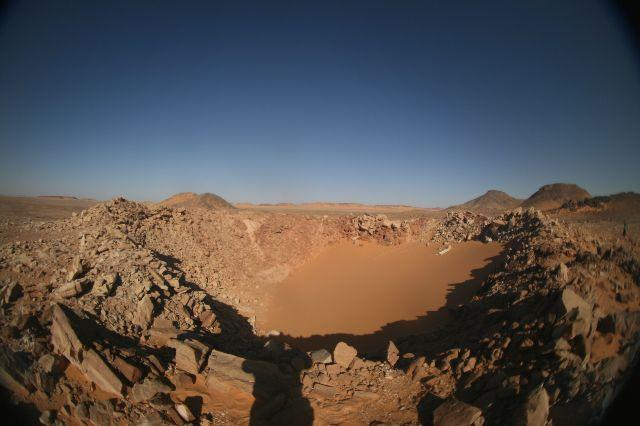 Il cratere Kamil (per cortesia dell'Istituto nazionale di geofisica e vulcanologia e dell'Istituto nazionale di astrofisica)