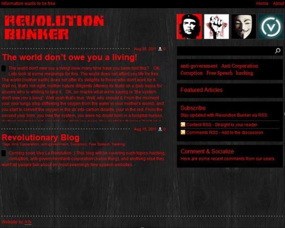Uno dei numerosi siti dediti all?attivismo etico-politico-informatico