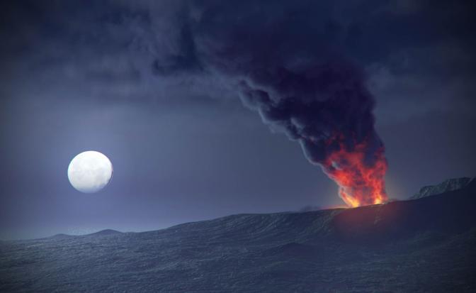 La fase dell'eruzione