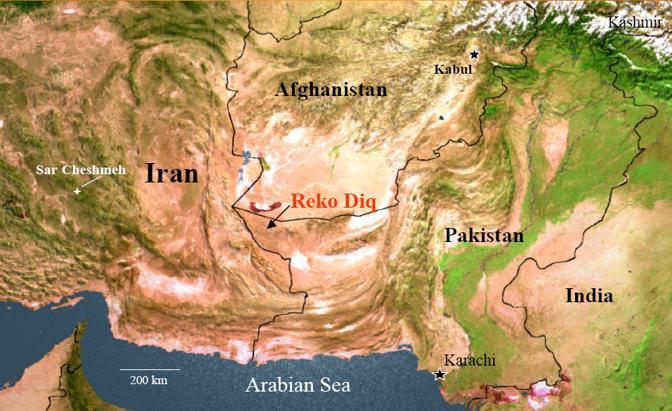 L'area del Belucistan di Reko Diq (da Tethyan.com)