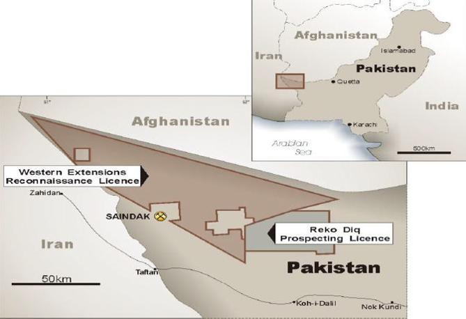 L'area delle concessioni minerarie (da Tethyan.com)