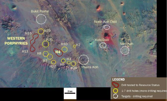 Le aree dove sono state effettuate le prospezioni, da un'immagine Landsat (da Tethyan.com)