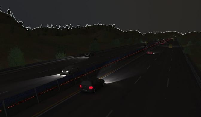 Di notte una serie di led luminosi autoalimentati aiuterebbero - specie in caso di nebbia o scarsa visibilità - a identificare le barriere (Paoletti)