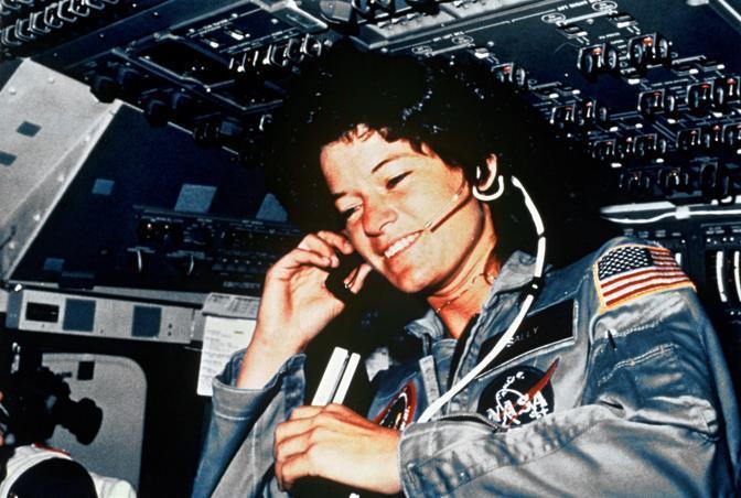 Sullo shuttle Challenger nel luglio 1983 (Olycom)