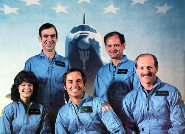 L'equipaggio della missione Sts-7 (Olycom)