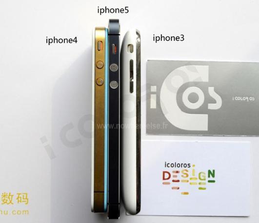 Il sito iColorOs ha invece pubblicato immagini che confrontano un mock-up (modellino non funzionante) di iPhone 5 a confronto con i precedenti iPhone
