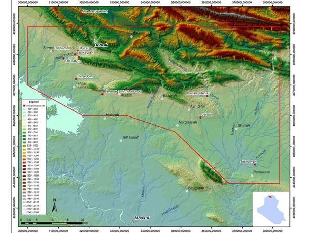 La regione di studio del Progetto archeologico regionale Terra di Ninive nel Kurdistan iracheno (Un. di Udine)
