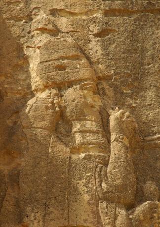 Il sovrano assiro Sennacherib, dettaglio del Grande Rilievo di Khinis
