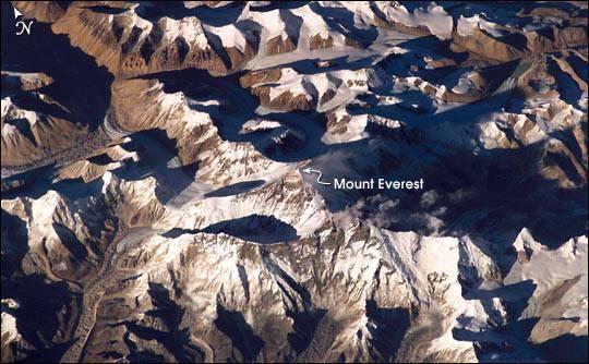 Immagine del 26 novembre 2003 dalla Iss (Nasa)