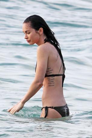 Ecco l'attrice americana Megan Fox in vacanza alle Hawaii (Olycom)