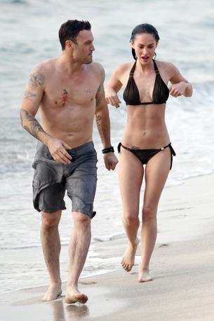 Con l'ex modella anche il fidanzato Austin Green (Olycom)