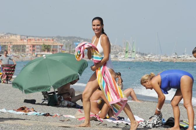 Ines Sastre in vacanza a Cadiz (Clicphoto)