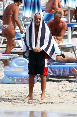 Beppe Grillo in vacanza a Porto Cervo (Olympia)