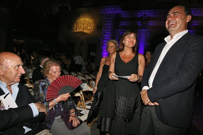 La signora Clio Napolitano con Renata Polverini e Nicola Zingaretti(Benvegnù - Guaitoli)