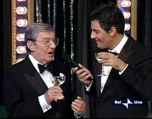 Lelio Luttazzi  con Fiorello (Ansa)