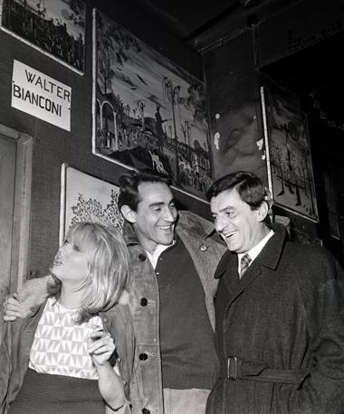Lelio Luttazzi  con Walter Chiari e un'amica (Omega)
