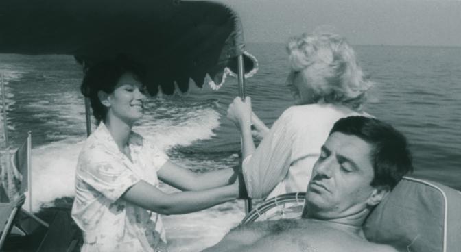 Lelio Luttazzi  in un'immagine del film «L'avventura» di Antonioni (LaPresse)