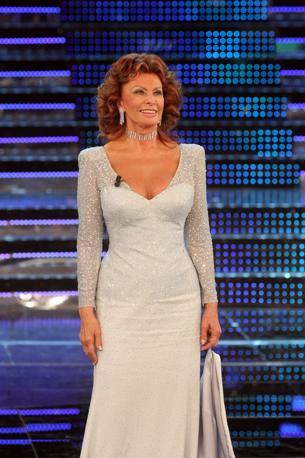 Sophia Loren ospite d'onore della serata finale (Ansa)