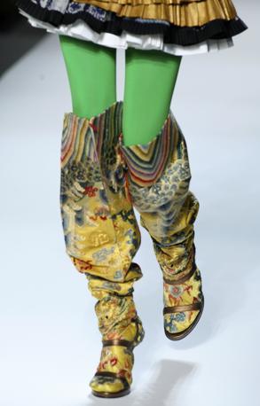 I collant verdi di Jean Paul Gaultier (Ap)