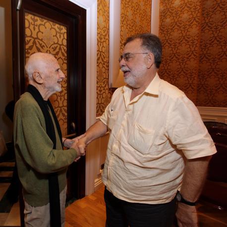Monicelli con Francis Ford Coppola