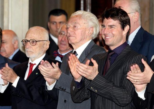 Con Tom Cruise e Dino Risi (Rcd)