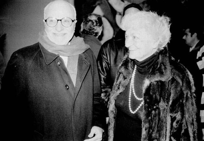 Mario Monicelli e Suso Cecchi D'Amico nel 1999
