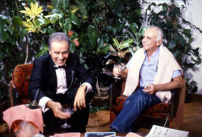 Mario Monicelli con Enzo Tortora (Liverani)