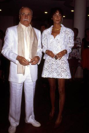 Mario Monicelli  con la figlia Ottavia, in una foto del 1991 (Liverani)