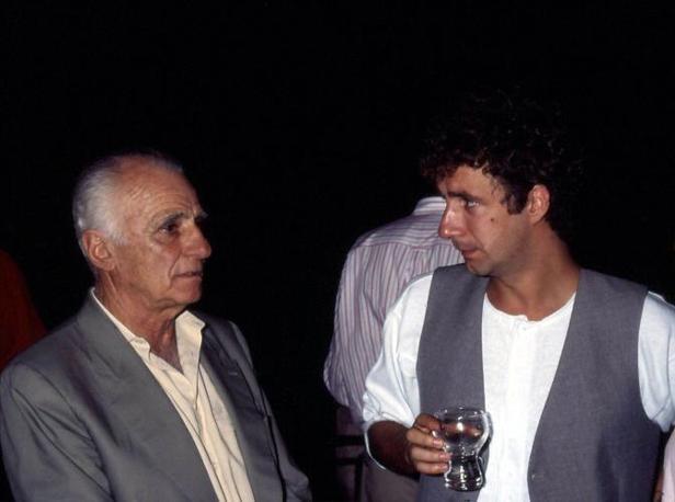 Monicelli con Francesco Nuti (Liverani)