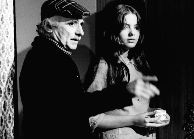 Mario Monicelli con Ornella Muti (Liverani)