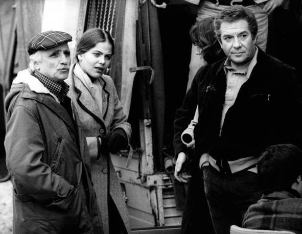 Mario Monicelli con Ornella Muti e Ugo Tognazzi (Liverani)