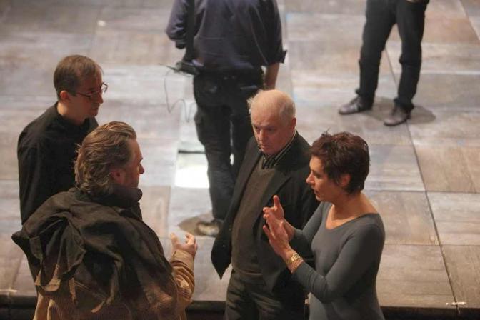 Un momento delle prove alla Scala