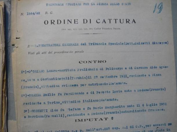 Incartamenti del processo a Laura D?Oriano