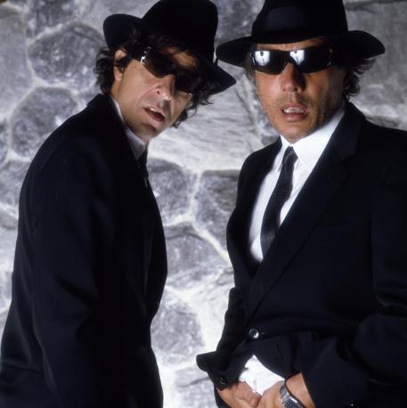 Gaber e Jannacci, Ja.Ga. Brothers, anni Ottanta (foto Guido Harari)