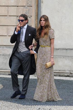 Lapo Elkann con Bianca Brandolini d'Adda (Splash News/Gigi Iorio)