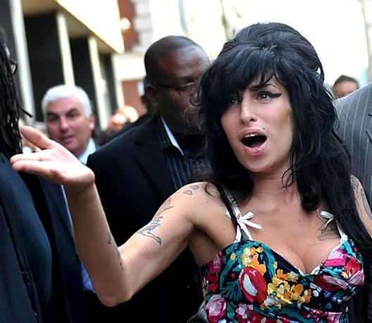 La cantante, famosa per successi come «Back to Black» and «Rehab», vinse ben cinque Grammy Award nel 2008 (Epa)