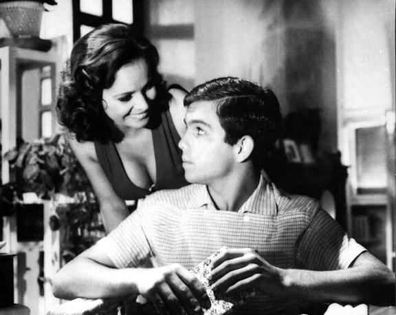 Con Alessandro Momo in «Malizia» (1973)