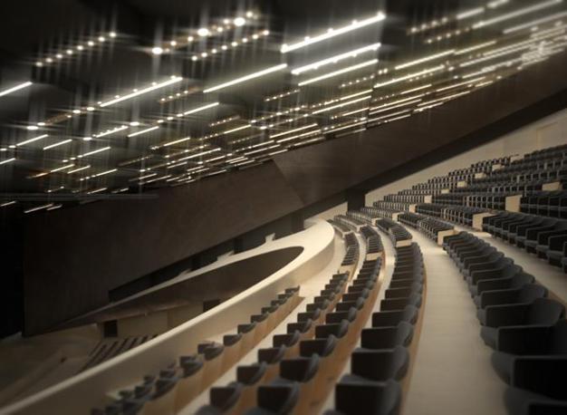 L'interno del nuovo teatro dell'Opera di Firenze