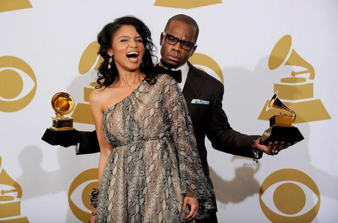Kirk Franklin con la moglie Tammy Franklin (Afp)