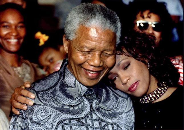 Con Nelson Mandela nel 1994