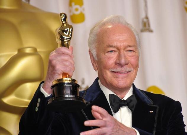 Christopher Plummer, 82 anni, premio come milgior attore non protagonista. Nessuno prima di lui aveva vinto un oscar a questa età (Afp)