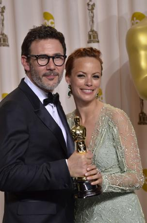 Il regista di «The Artist» Michel Hazanavicius con l'attrice Bérénice Bejo (Afp)