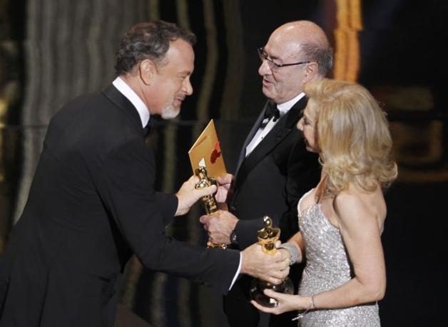 Ferretti e Lo Schiavo ricevono gli Oscar per «Hugo Cabret» (Reuters)