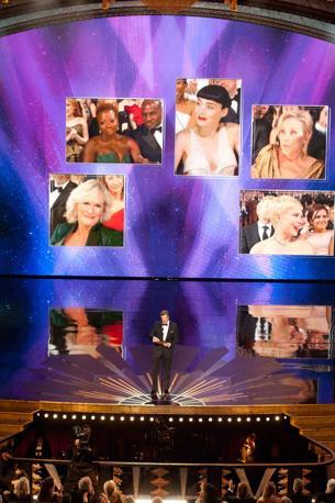 Colin Firth, tra gli ospiti che hanno annunciato i vincitori (Epa)