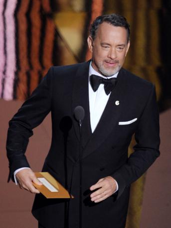 Tom Hanks alla premiazione (Afp)