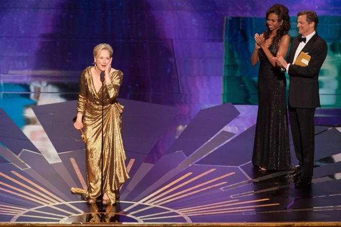 Meryl Streep, al suo terzo Oscar come attrice protagonista per «The Iron Lady» (Epa)