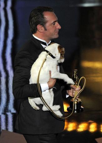 Jean Dujardin e Uggie (LaPresse)