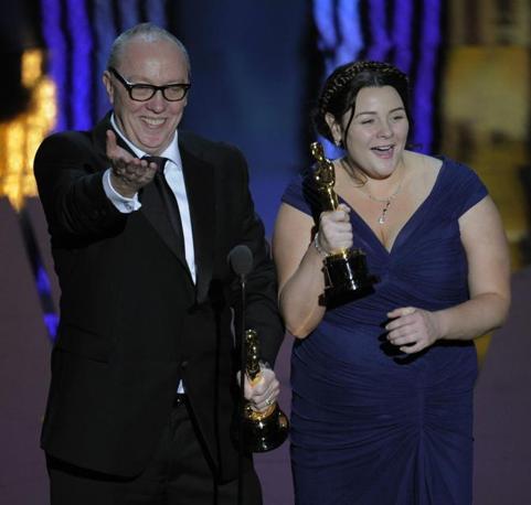 Terry George e Oorlagh George, miglior cortometraggio per «The Shore» (LaPresse)